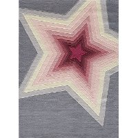 4 x 6 Small Pink and Gray Superstar Area Rug - Hipster