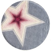 5' Round Pink and Gray Superstar Area Rug - Hipster