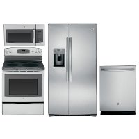 KIT GE Appliance Stainless Steel Kitchen Package with Electric Range