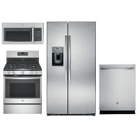 KIT GE Kitchen Appliance Package with Gas Range - Stainless Steel
