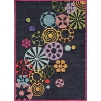 4 x 6 Small Black Modern Sprinkle Area Rug - Hipster