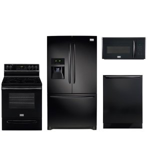 Kit Frigidaire Gallery 4 Piece Black Kitchen Appliance Package