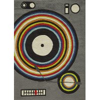 4 x 6 Small Gray Turntable Area Rug - Hipster