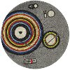 5' Round Gray Turntable Round Area Rug - Hipster