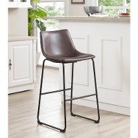 Aviator Brown Bar Stool