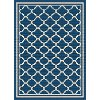 GCT1008 5x8 5 x 7 Medium Navy Blue Moroccan Tile Indoor-Outdoor Rug - Garden City