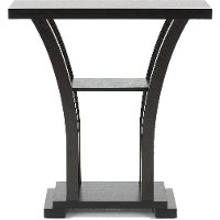 Dark Chocolate Small Pedestal Table - Wenge