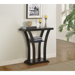 Dark Chocolate Small Pedestal Table