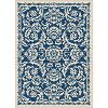 GCT1014 8x10 8 x 10 Large Navy Blue Oriental Indoor-Outdoor Rug - Garden City