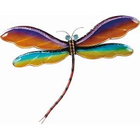 Assorted Multi Color Metal and Glass Dragonfly Decor