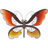 Assorted Glass and Metal Butterfly Wall Decor