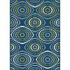 GCT1017 5x8 5 x 7 Medium Geometric Navy Blue Indoor-Outdoor Rug - Garden City
