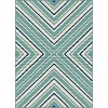 GCT1023 5x8 5 x 7 Medium Blue and Aqua Indoor-Outdoor Rug - Garden City