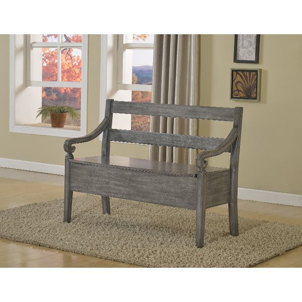 Espresso Storage Bench17999 · Kennedy Gray Storage Bench ...  sc 1 st  RC Willey & Shop storage benches and dining benches | RC Willey Furniture Store