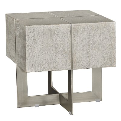 Contemporary Whitewash End Table Desmond RC Willey Furniture Store