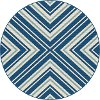 GCT1025 8RND 8' Round Navy Blue Indoor-Outdoor Rug - Garden City
