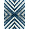 GCT1025 8x10 8 x 10 Large Navy Blue Indoor-Outdoor Rug - Garden City