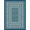 GCT1026 5x8 5 x 7 Medium Geometric Navy Blue Indoor-Outdoor Rug - Garden City