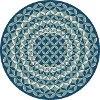 GCT1026 8RND 8' Round Geometric Navy Indoor-Outdoor Rug - Garden City