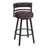 Contemporary Brown Swivel Bar Stool - Swivel