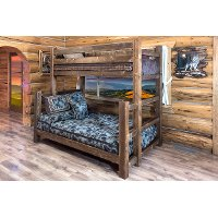 MWHCBBTFNSL Dark Brown Twin-over-Full Bunk Bed - Homestead