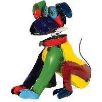 Multi Color Dog With Bone