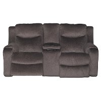 Coffee Brown Manual Reclining Loveseat - Marvel