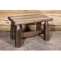 MWHCFSSL Rustic Brown Stool - Homestead