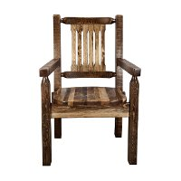 MWHCCASCNSL Rustic Captain's Dining Chair - Homestead
