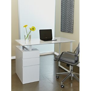 home office desk with white finish