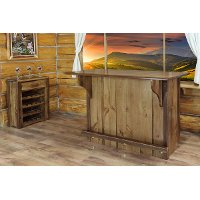 MWHCBWRSL Rustic Bar with Foot Rail - Homestead