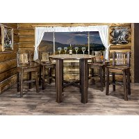 MWHCBTSL Rustic Dark Brown Pub Table - Homestead