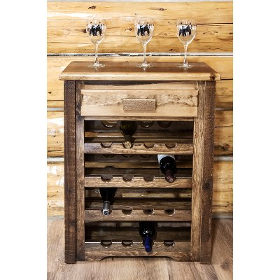 Rustic Wine Cabinet Homestead RC Willey Furniture Store