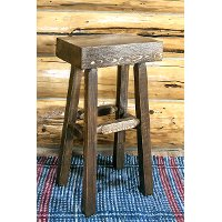 MWHCBNHLSL Half Log Bar Stool - Homestead