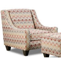 Loxley Southwest Upholstered Casual Accent Chair