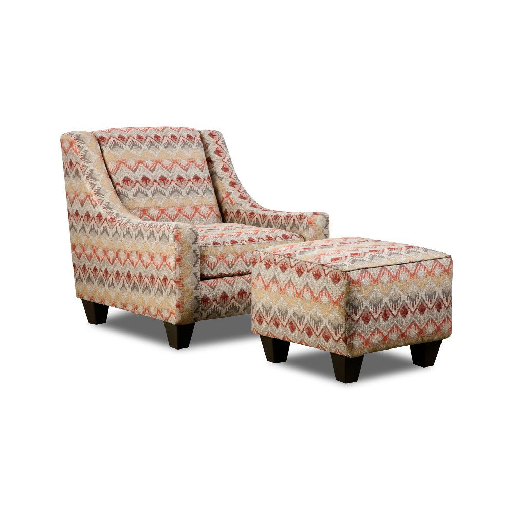 Loxley Southwest Upholstered Casual Accent Chair | RC Willey Furniture Store
