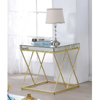 Mirror Glass Top End Table - Vista