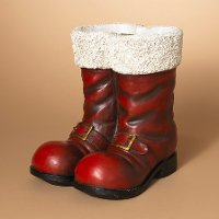 16 Inch Red and White Santa Boots