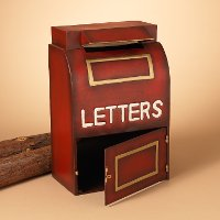 Metal Holiday Mailbox with Letter Compartment