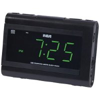 RC142 RCA Dual Wake Clock Radio with USB Charging