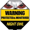 A-GYSS Night Owl Reflective Outdoor Yard Stake Sign