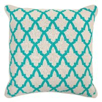 Turquoise Linen Throw Pillow