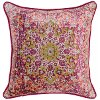 Fuchsia Multi Color Throw Pillow