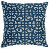 Marine Blue Cotton Throw Pillow