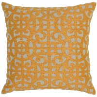 Mango Cotton Throw Pillow