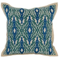 Blue and Green Surf Marine Throw Pillow
