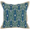 Clearance Blue and Green Surf Marine Throw Pillow