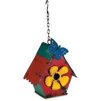 Hanging Bird House with Butterfly
