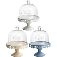 Assorted Metal and Glass Cake Stand