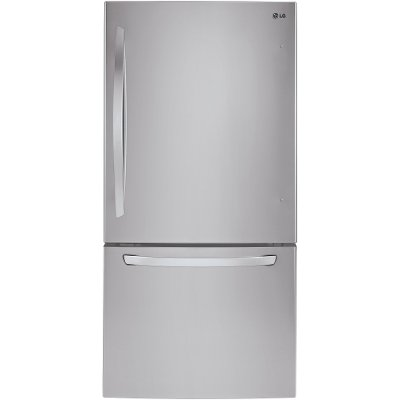 LDCS24223S LG Wide Bottom Freezer Refrigerator - 33 Inch Stainless Steel